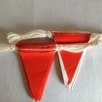 工厂直销PVC夹网布三角串旗安全旗警示旗