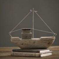 博西北欧大小木船模型摆件