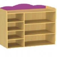 供应优质实木 玩具柜 cybo505 实木松木玩具柜厂家